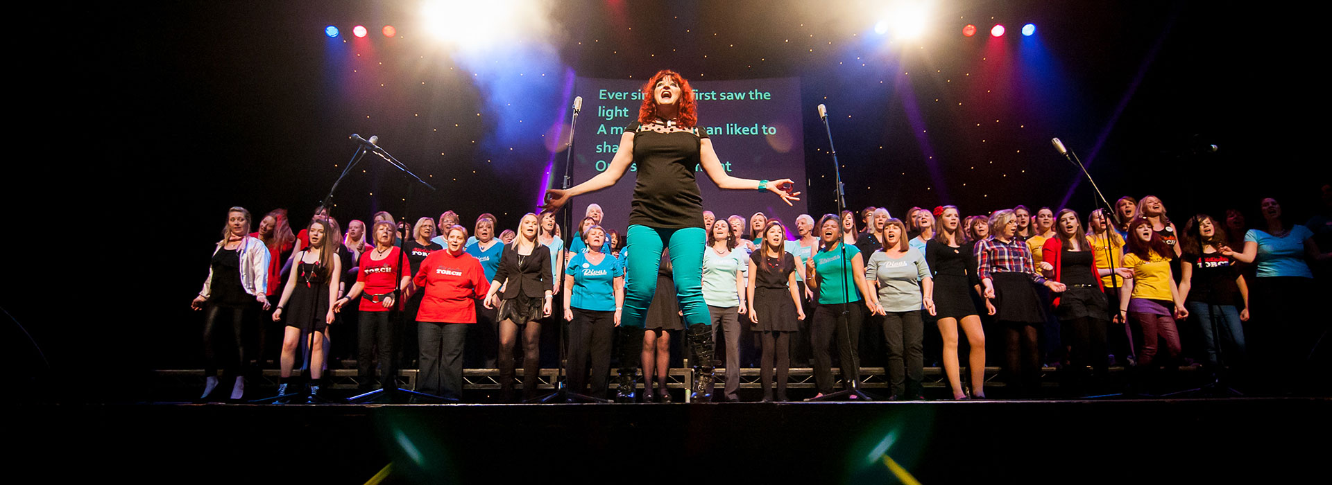 Choiroke 2013 choir festival at The Hawth, Crawley