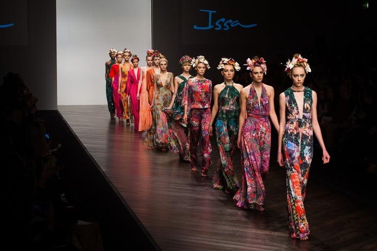 fashion photography by Chris Mann London Fashion Weekend catwalk show
