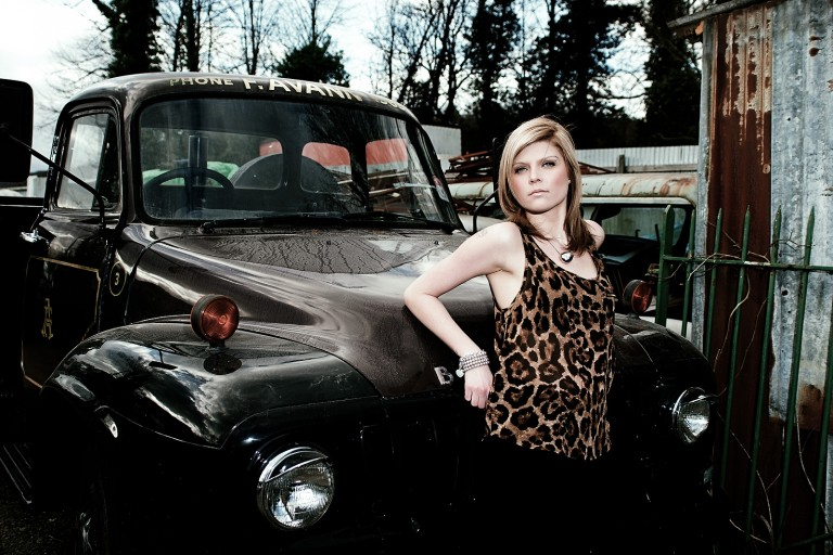 location fashion shoot scrapyard Chris Mann Photography