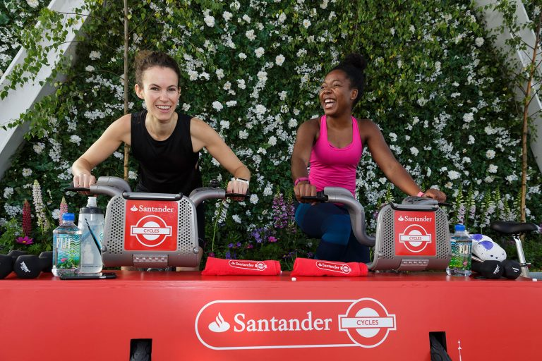 corporate events London photography Santander Cycles spin-up class at The Shard London