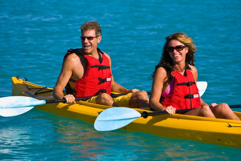 Corporate event Toyota kayaking Turks & Caicos Islands