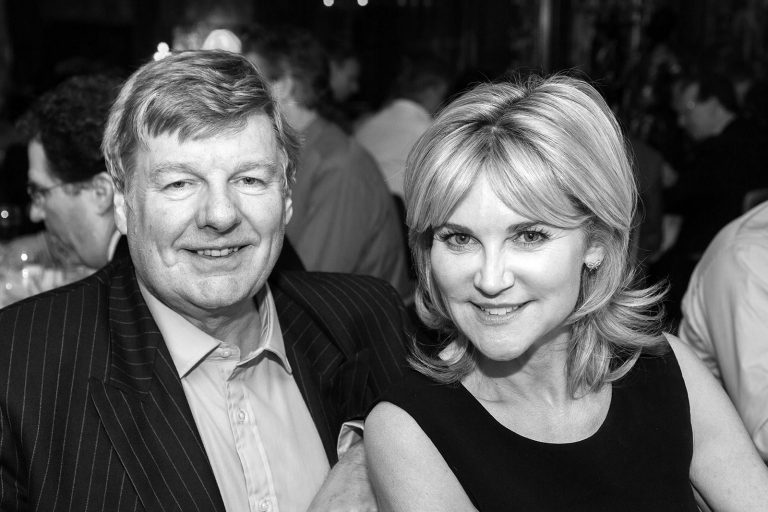 Anthea Turner with Lord Erroll corporate event Science Museum London