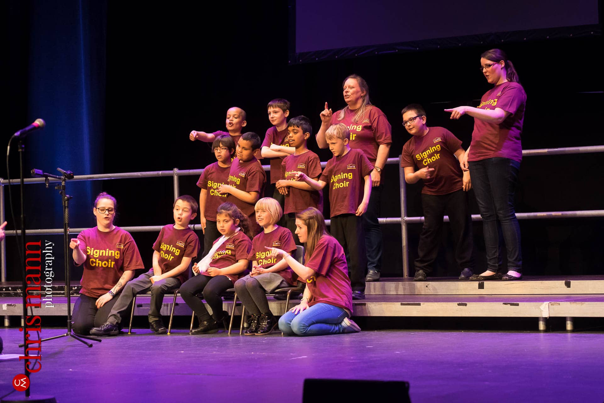 Brooklands School Signing Choir perform at Choiroke 2016 concert Dorking Halls