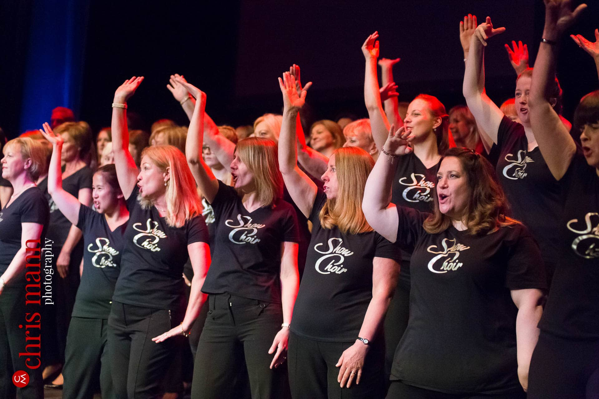 Cobham and Woking Show Choirs perform at Choiroke 2016 concert Dorking Halls