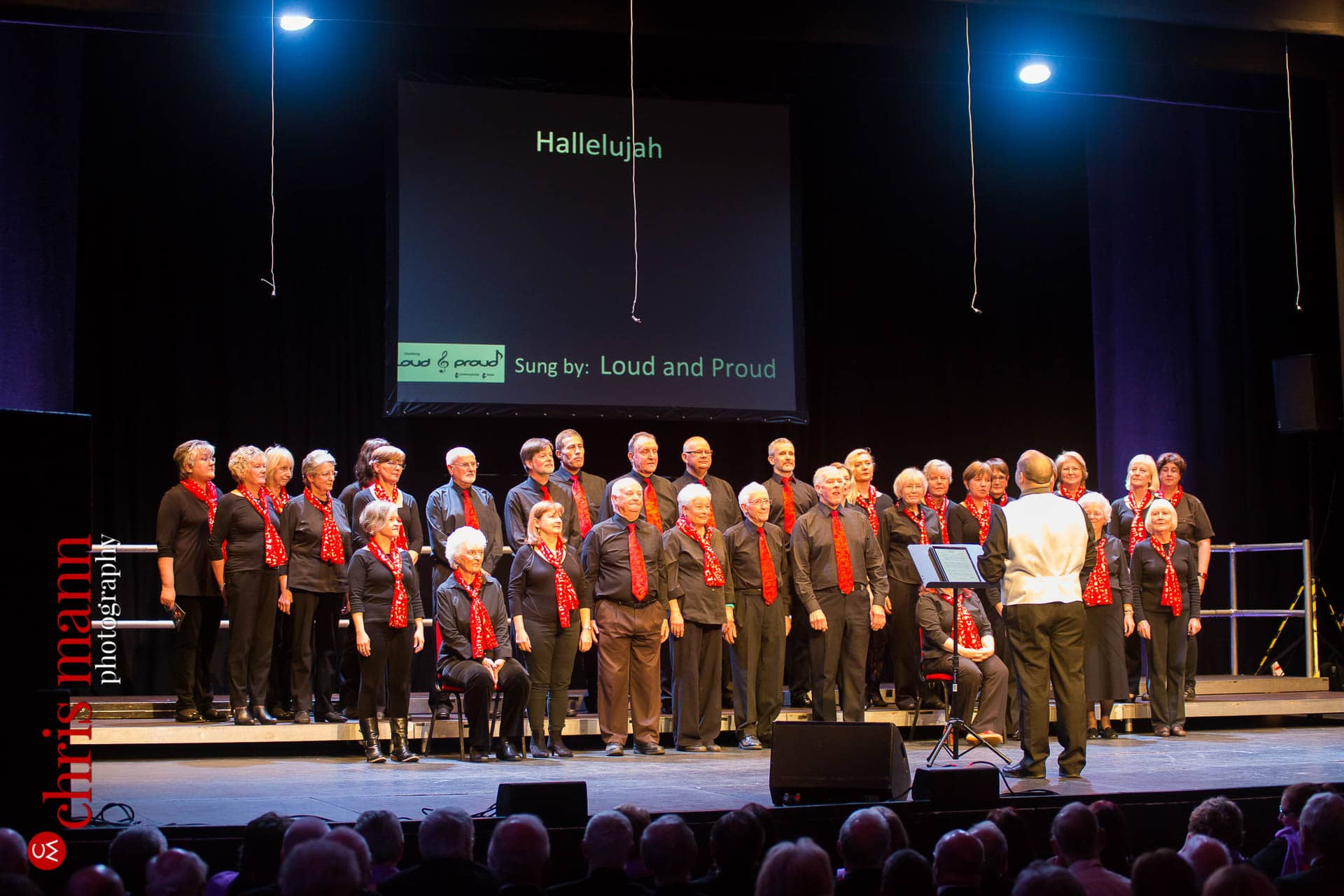 Loud and Proud choir perform Hallelujah at Choiroke 2016 concert Dorking Halls