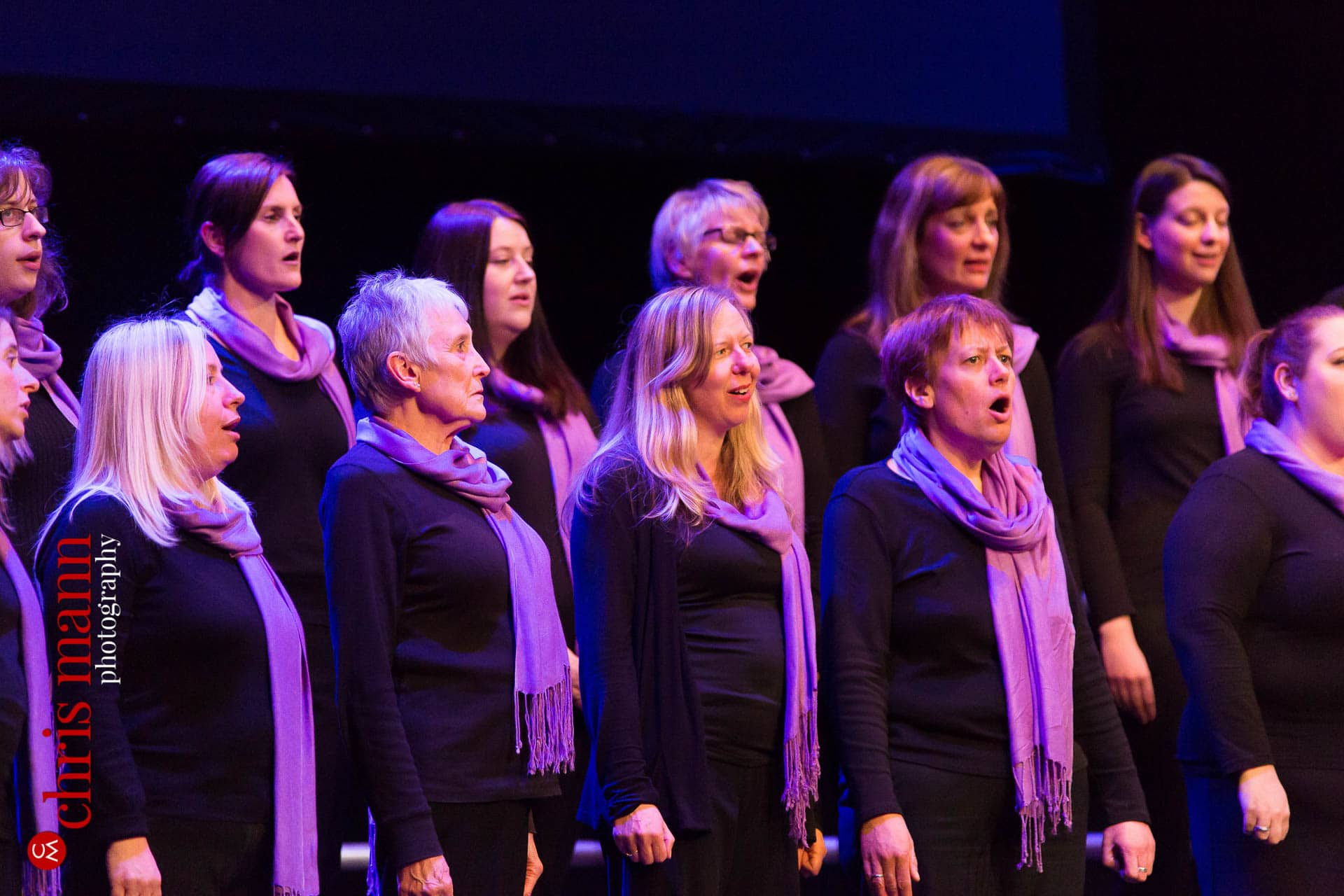 Songbirds choir performing at Choiroke 2016 concert Dorking Halls