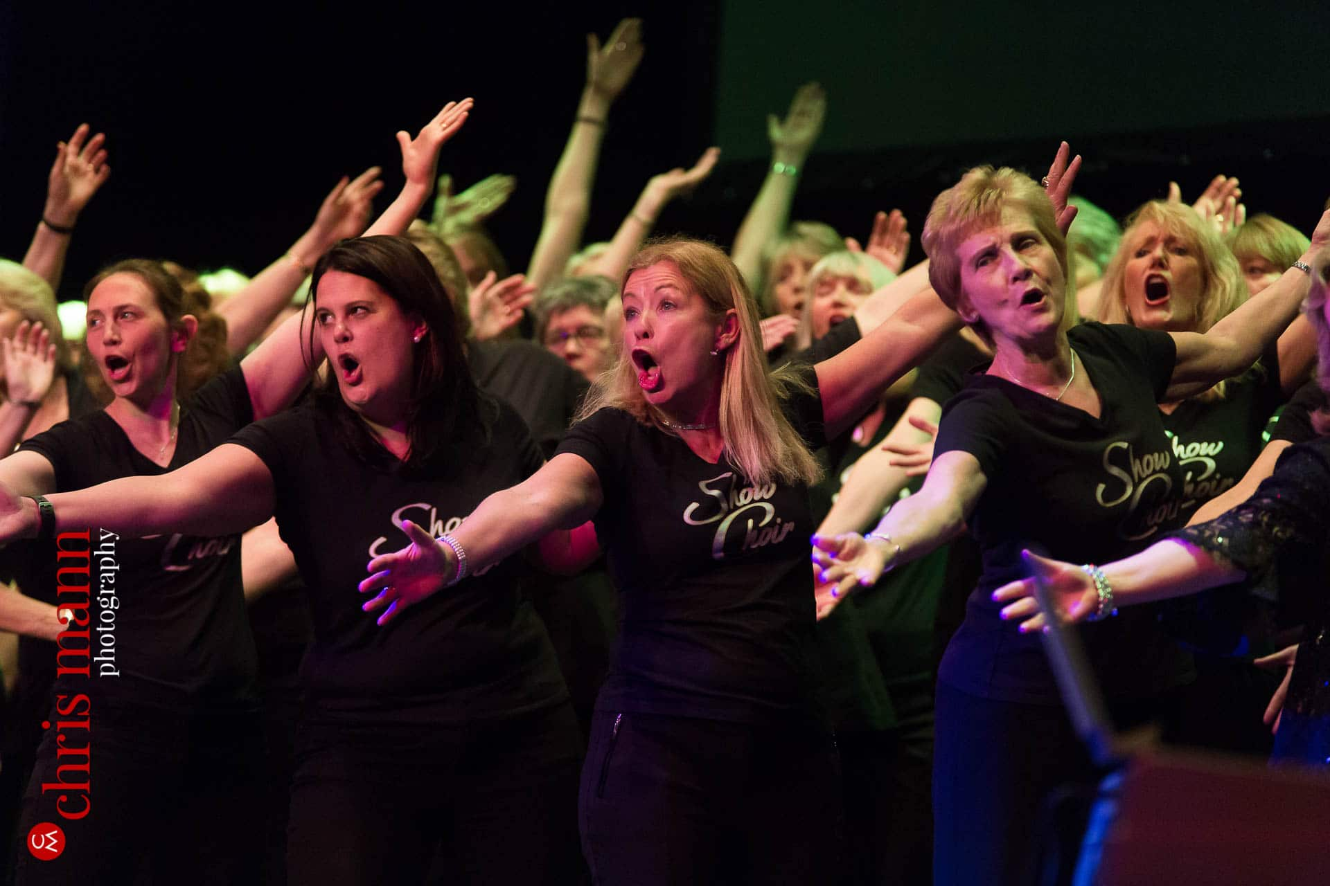 Banstead Show Choir singing at Choiroke 2016 concert Dorking Halls