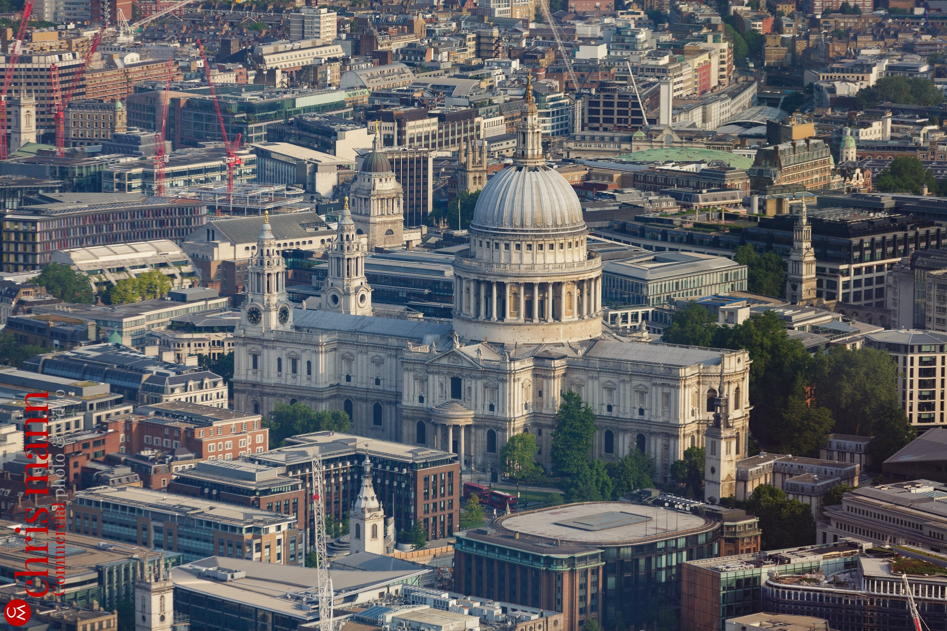 At Pauls Cathedral seen from The Shard London