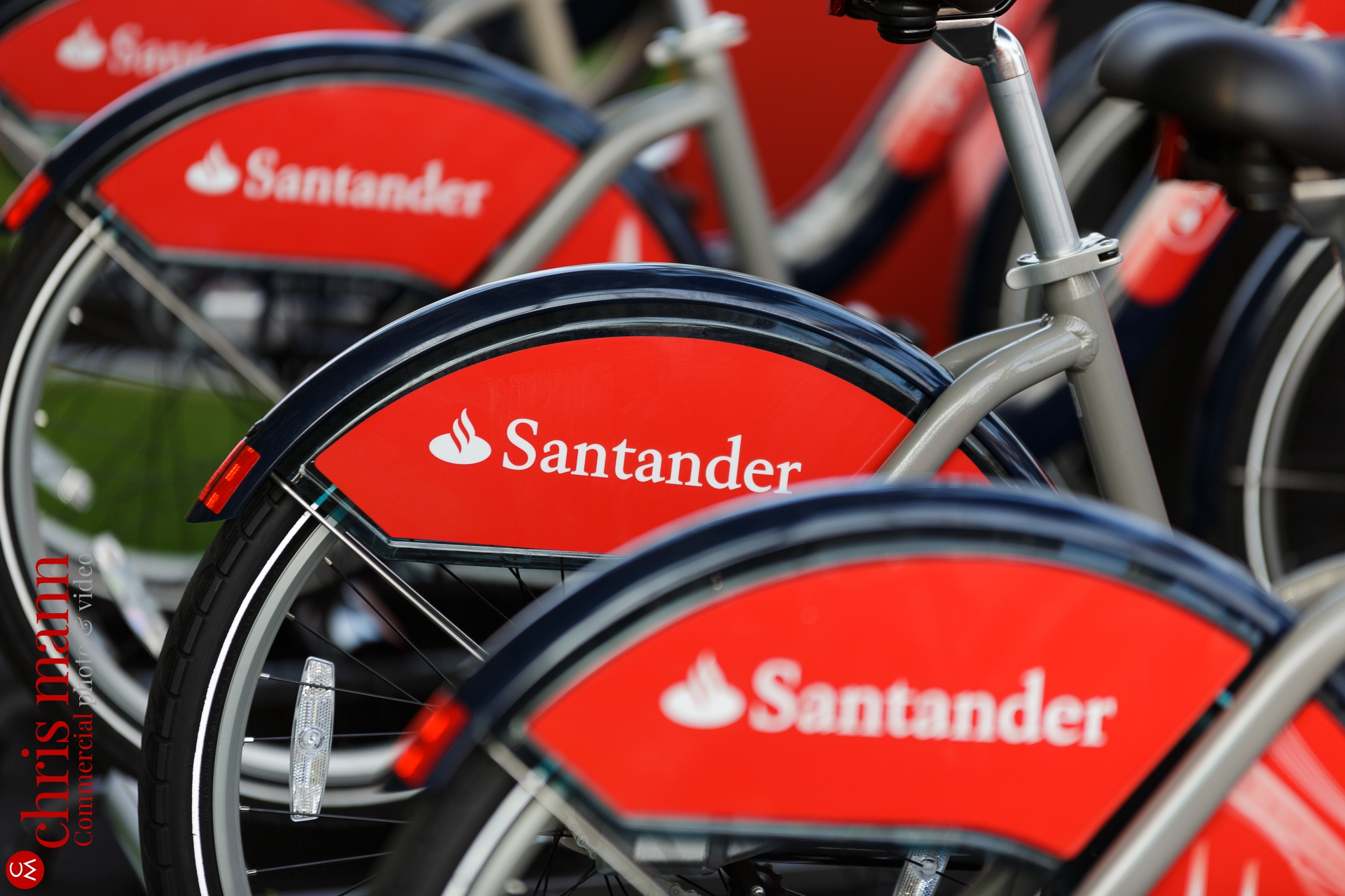 Santander Cycles close-up detail