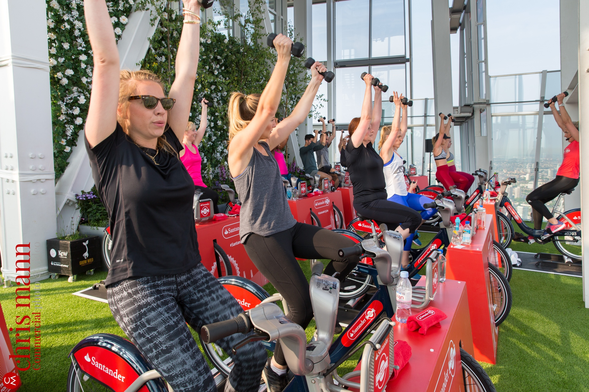 Santander Cycles spinning class The Shard London June 2016
