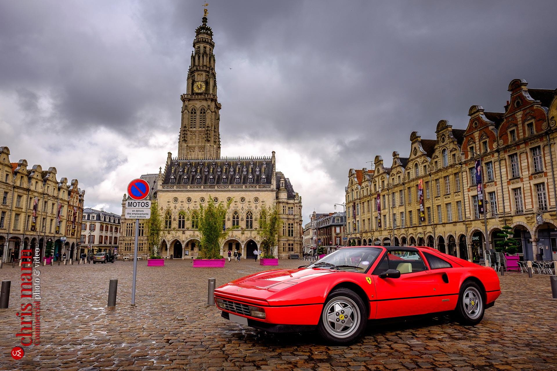 Ferrari 328 GTS Targa Place des Héros Arras France