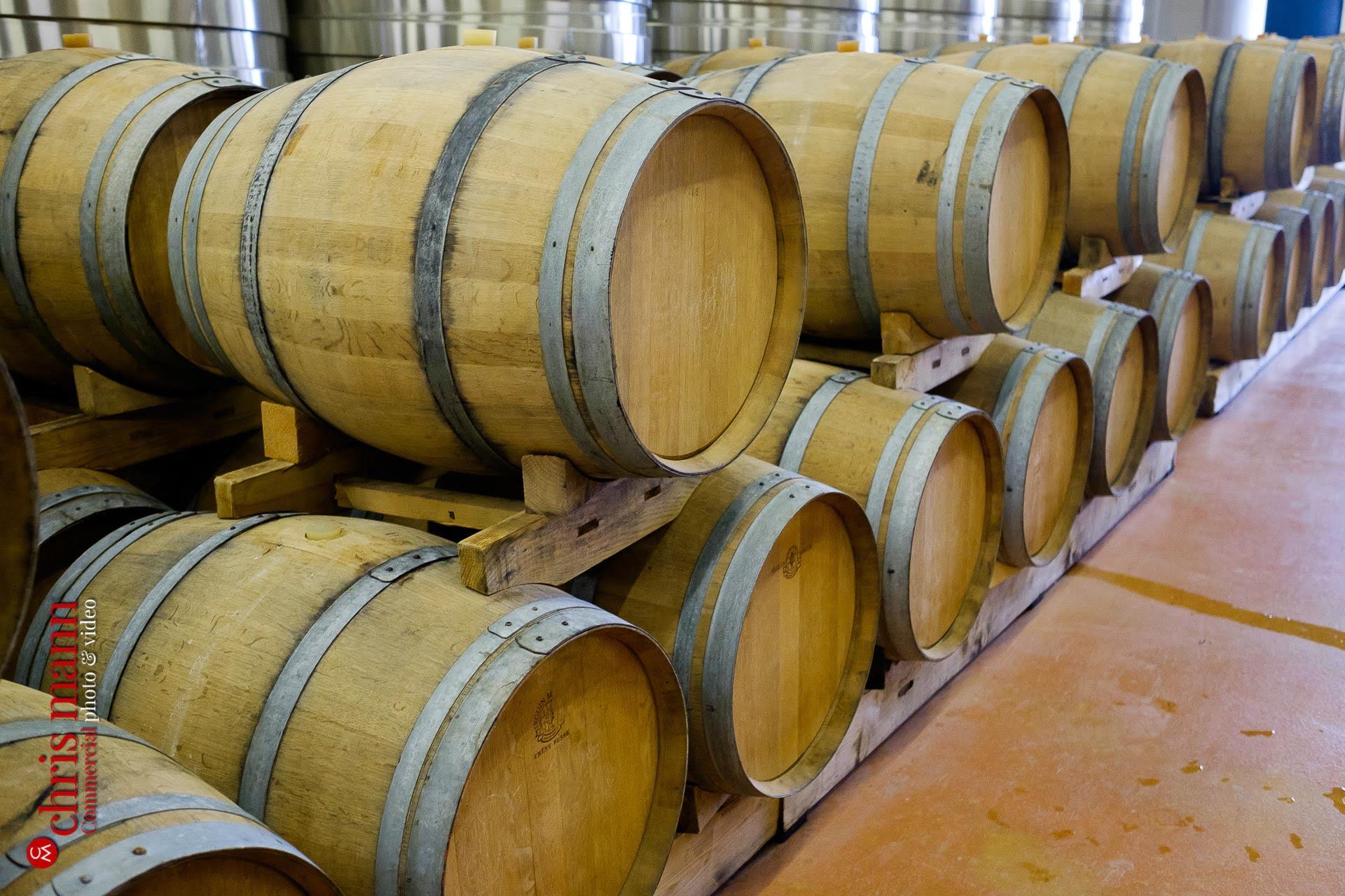 champagne casks at Bruno Paillard Reims France