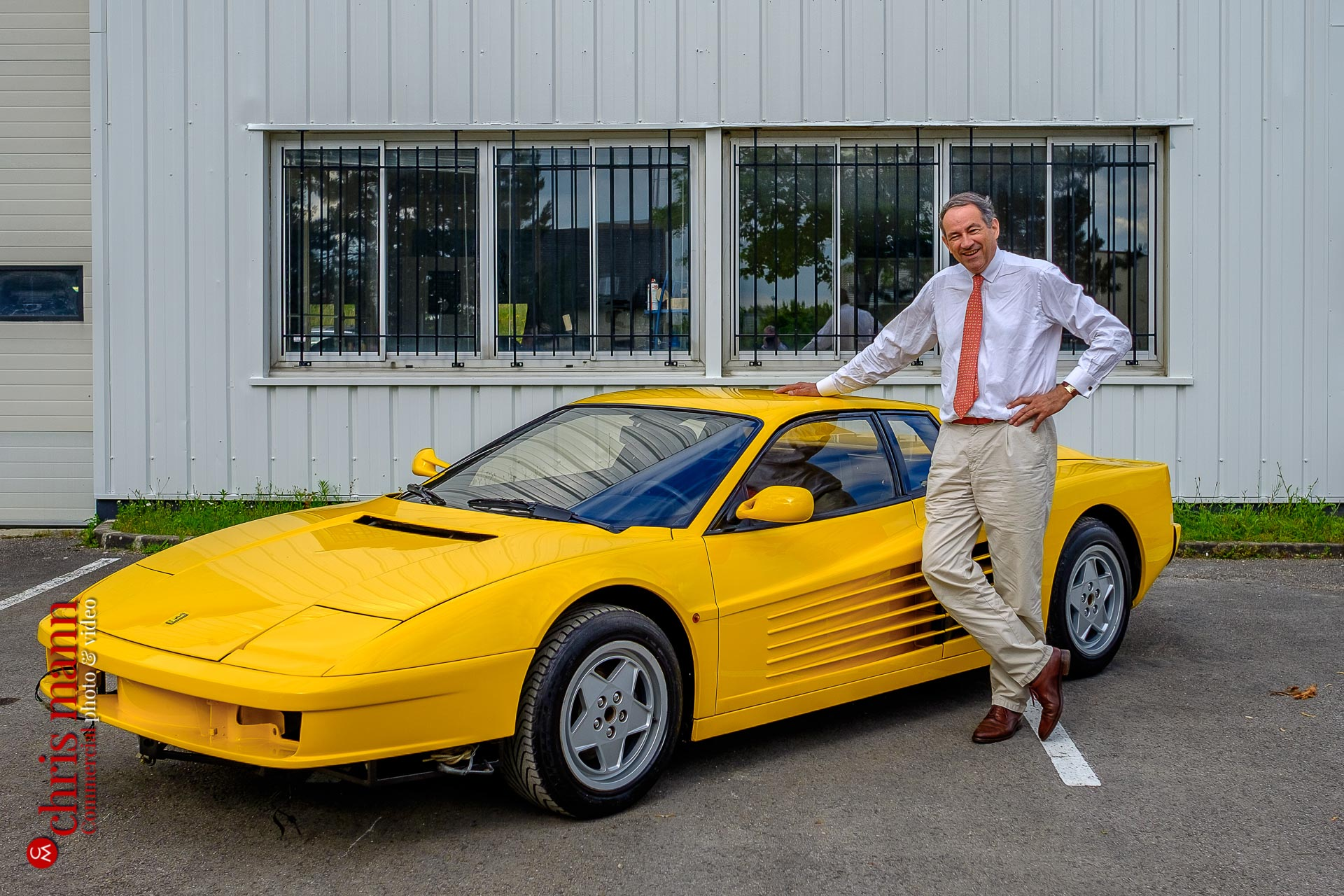 Bruno Paillard and Ferrari Testarossa