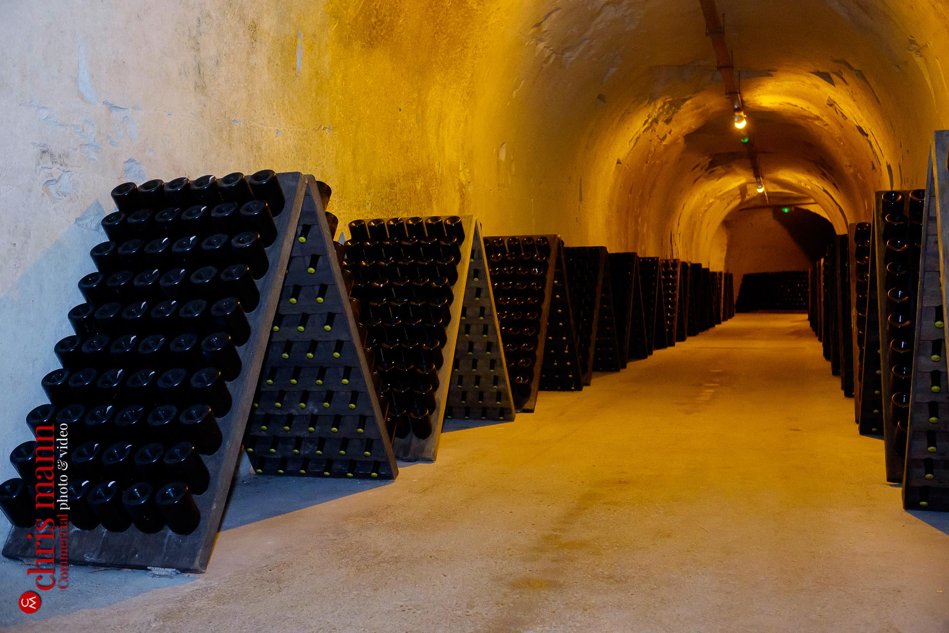 Taittinger champagne cellars Reims France