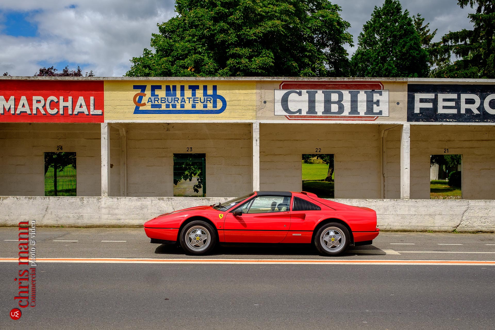 Ferrari 328 GTS Targa at Reims-Gueux race track Reims France