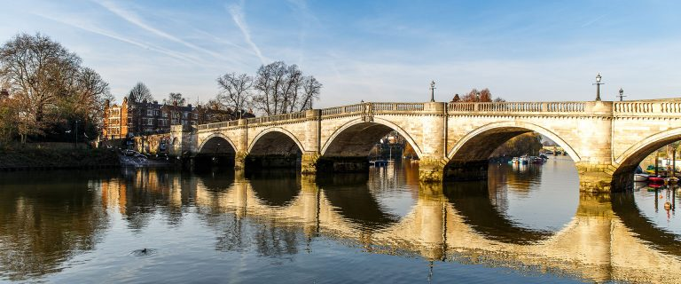 Richmond Bridge Surrey UK