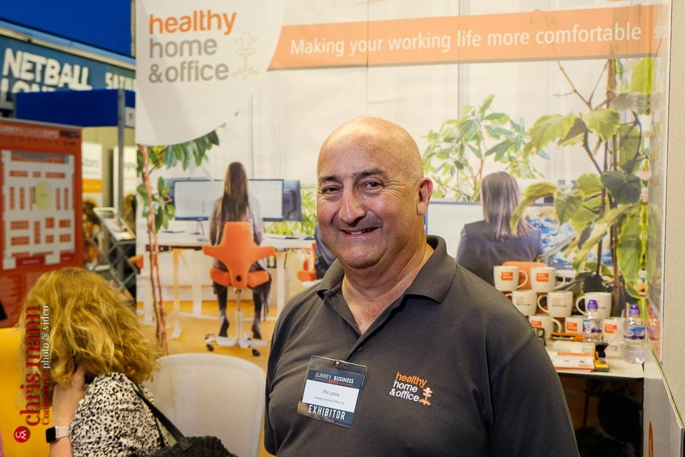 Phil Johns - Healthy Home & Office furniture experts - Surrey Business Expo 2018 photos