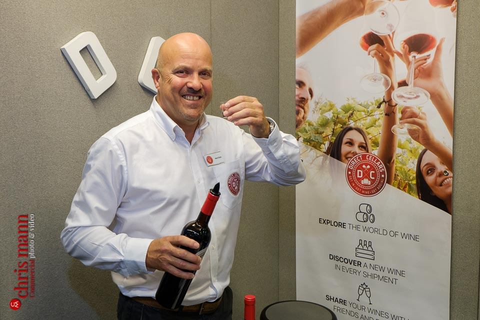 Mark Elliott - Direct Cellars wine merchant - Surrey Business Expo 2018 photos