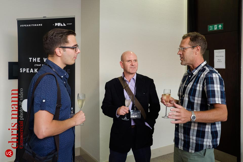 English Wine Business Seminar - delegates chatting