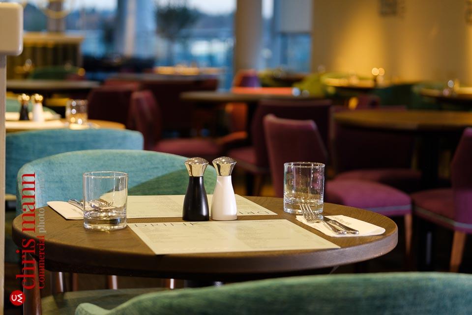 Mercedes Benz World restaurant relaunch - table setting