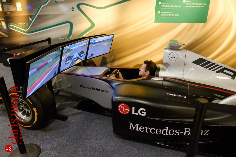 Mercedes Benz World racing car simulator