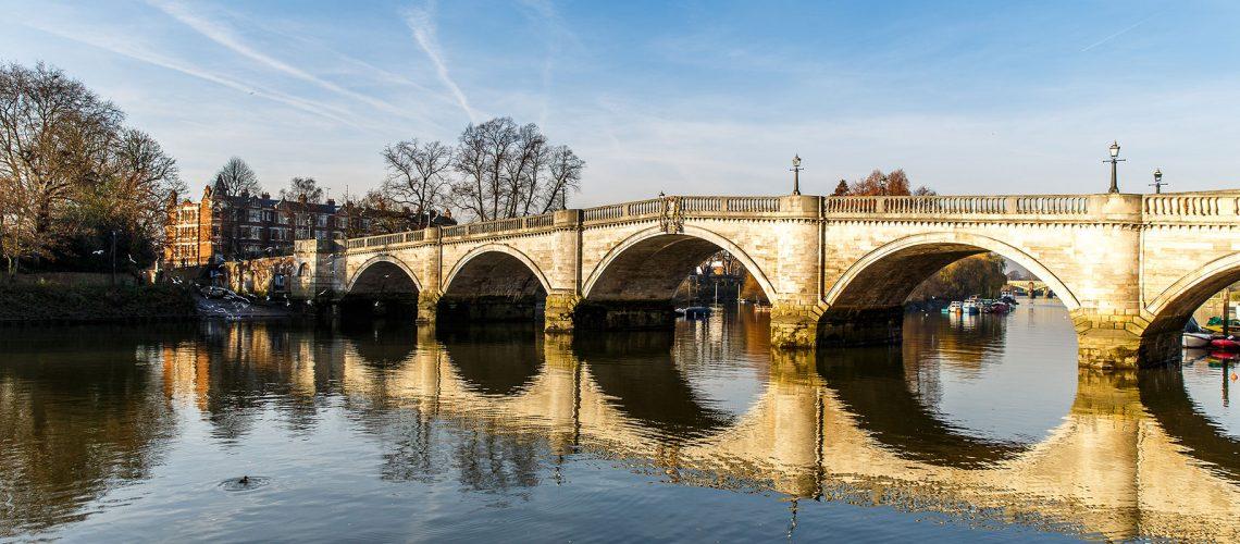 Richmond Bridge Surrey UK