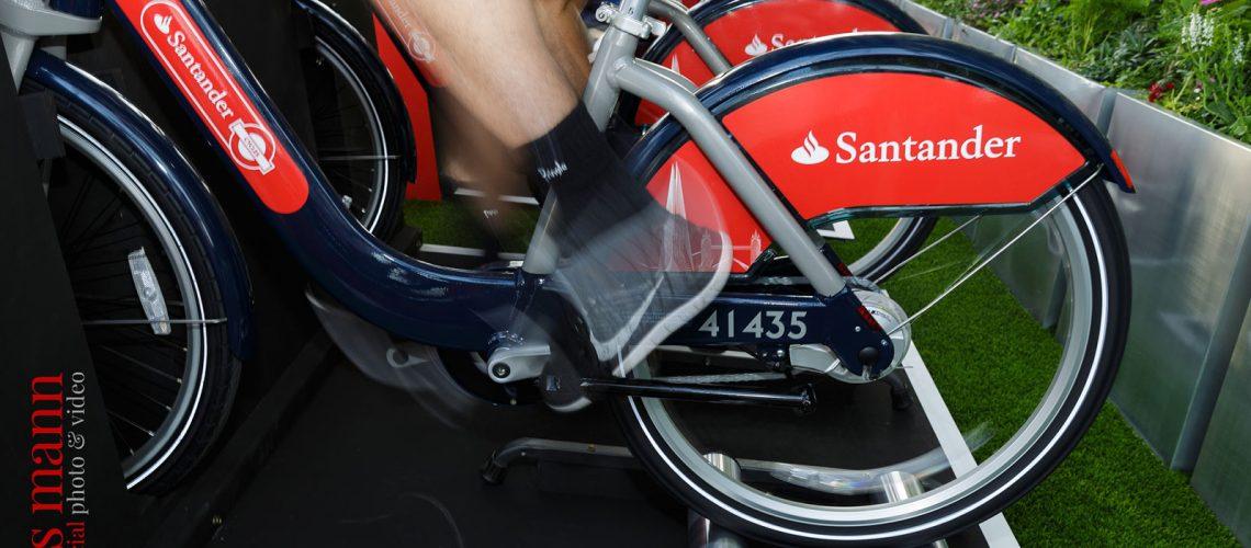 Santander Cycles spin-up class at The Shard London
