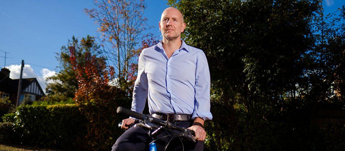 Barney Whiter on mountain bike